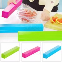 Wholesale 3 Color Kitchen Foil Cling Film Wrap Dispenser Cutter Storage Holder Plastic Y102