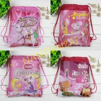 angelina ballerina - High Quality Angelina Ballerina Backpack bags Non woven student bags School bag Kids party gift Lovely cartoon waterproof beach bag