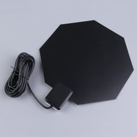 amplified indoor tv antenna - Hot Indoor TV Antenna Long Range MHz Amplified HD p Flat Home UHF Digital Analog TV Antenna For PC Notebook DTV HDTV