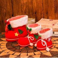 Wholesale New Christmas toys gifts Little red large pink small Christmas candy boots toys gifts set dropping shipping
