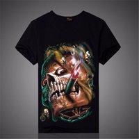animal print ideas - 2016 listing of the latest D printing T shirt men s shirt sleeve T shirt hip hop cartoon wolf skull print T shirt ideas