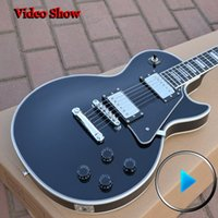 Wholesale Custom Shop LP Custom VOS black color high quality complete electric guitar