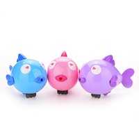 baby earrings infant - Cute Kiss Fish Swim Toys Baby Educational Clockwork Wind Up Plastic Infant Swimming Toy