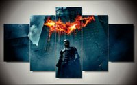 begin figure - Framed Printed batman begins dark knight Painting on canvas room decoration print poster picture canvas