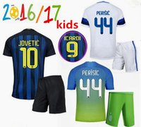 Wholesale Thailand Quality kids Inter Milan Jerseys kit JOVETIC ICARDI PALACIO KONDOGBIA home away rd shirts