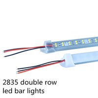 Wholesale 2016 New arrivals M LEDs Super bright DC12V SMD2835 Double row LED Bar Light LED rigid lights with PC Cover