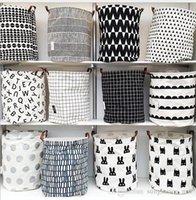 Wholesale Ins Storage Baskets Bins Laundry Hamper Bucket Kids Room Toys Storage Bags Bucket Canvas Organizer Batman Polka Dot Storage KKA657