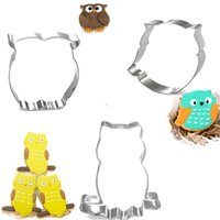 assorted cookies - DHL Cartoon Owl Shape Cookie Cutters Set Styles Assorted Stainless Steel Biscuit Mould Baking Pastrys For Kids