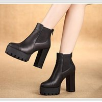 band funding - Vogue of new fund of autumn and winter leather women Martin boots thick short heel and ankle boot heel