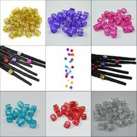 Wholesale Mixed cm cm Aluminum Africa Dread Lock Ring For Braiding Hair Extensions Dreadlock Beads Colors Braid Beads Link Rings