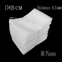 Wholesale cm mm White EPE Foam Bags Protective Bag Wrap Embalajes Burbujas Verpakkings Materiaal For Packing Polietileno