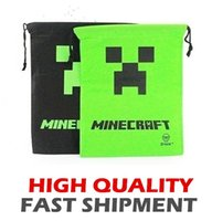 Wholesale HOT ITEM New Minecraft Storage bag Minecraft Bag Backpack Creeper Draw String Sling Bag Gift Bag High Quality