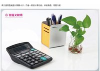 Wholesale whole sale High quality office Large screen concise and lively buttons Deli ES absolutely authentic desk calculator solar calculators