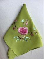 Wholesale Delicate restoring ancient ways Ms silk handkerchief embroidered handkerchief embroidered silk handkerchief