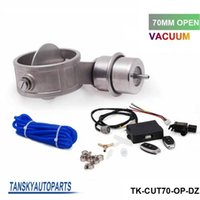 Wholesale Tansky Exhaust Control Valve Set With Vacuum Actuator CUTOUT MM Pipe OPEN STYLE with Wireless Remote Controller TK CUT70 OP DZ