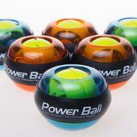 Wholesale Unisex LED Wrist Exercise Power Ball Arm Exercise Power Ball Sports Gym Fitness Gyroscope Muscle Force Strength LJJP35