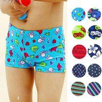 Wholesale Children Swimming Pants Boys Cartoon Spide Man Batman Pattern Boy Shorts Swimming Pants Baby Swimwear Pant E801