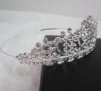 Wholesale New Women Multi crystal Statement Tiaras Fashion Hair Jewelry Silver Headbands Flower hairbands Birdal crowns Wedding hair accessories