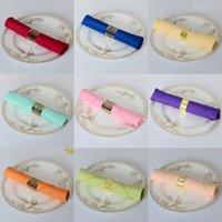 Wholesale 200pcs Top Quality Factory Direct Sale White Polyester Napkin x48cm For Wedding Event Party Decoration Colors Heat Cut Side