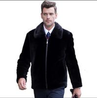 Wholesale The new imitated mink mink wool in winter to keep warm coat High imitation fur menswear mink fur coat men s leather jacket