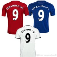 Wholesale DHL Best Thai Quality MancHester Jersey home away jerseys UnITED Ibrahimovic MEMPHIS MATA MARTIAL ROONEY POGBA