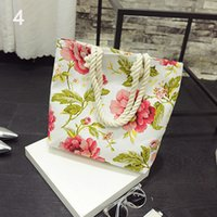 Wholesale Women s Canvas Shoulder Hand Bag Tote Bag fashion casual Handbag