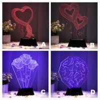 1 pcs romantic 3d wood mood led table light lamp usb battery beside bedroom decor night light novelty girlfriend gift cheap mood lighting