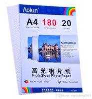 Expreso libre A4 (210 * 297 mm) 180g 20 hojas de papel fotográfico de alto brillo impermeable papel fotográfico Papel tinta, para una variedad de impresoras de inyección de tinta