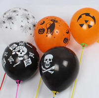 balloon tricks - Halloween Latex Balloons Party Decoration Orange Black Skull Pumpkin ghost bat Trick or Treat Scary club bar decor props festive gif supply
