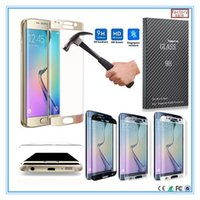 Wholesale For Samsung Galaxy S7 edge S7 S6 edge S6 edge plus H Screen D Full Cover Curved Tempered Glass Screen Protector