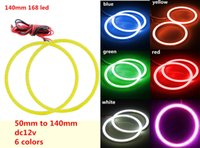 angle halo - 6 colors cob led angle eye ring from mm to mm Car Truck COB Led Angel Eyes Halo Ring Light DC v V V