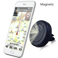 Wholesale High quality Car Mount Air Vent Magnetic Universal Car Mount Phone Holder for iPhone s One Step Mounting Reinforced Magnet Easier Saf