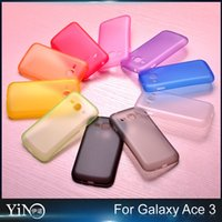 ace pc - For Samsung Galaxy Ace ace3 AceIII S7272 mm Thin Slim Matte Frosted Transparent Clear Soft PP Cover Case Skin