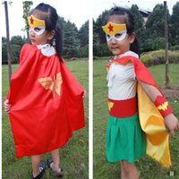 packing film - EMSSHIPPING Styles Children Halloween Cosplay Mask Party Masquerade Felt Decoration Mask Superhero Cape Performance film Mask party pack