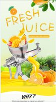 Wholesale Hot Sale Stainless Steel Wheat Grass Blender Juicer Hand Juicer Manual Wheatgrass Extractor Maual Juice Blender Orange Juice Extractor