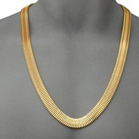 Wholesale Newest heavy g cm cm k yellow gold filled electroplate men s necklaces MIAMI CUBAN LINK curb chains hip hop bling jewelry
