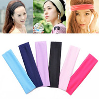 Wholesale Pc Women Girls Yoga Hairbands Soild Sports Sweatband Headband Elastic Multicolor Hair Band