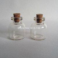 Grandes bouteilles ventre de 5.4ml fioles bocal en verre avec des bouchons de bouteilles bouchons de verre de liège mini-bouteilles de verre avec des bouteilles bouchons mini-bouchées