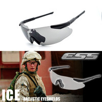ballistic inserts - ESS ICE Safety Glasses Tactical Army Goggles TR90 Frame Lenses Lenses RX Inserts Bulletproof Army Sunglasses Ballistic Eyeshields