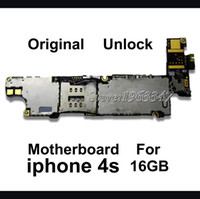 Wholesale Unlocked Original GB Phone Mainboard For Iphone S Working EU version Motherboard With Full Chips Logic Board