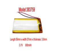 Cheap 3PCS Lithium Li-polymer rechargeable Battery Li-Po 3.7V 900 mAh for bluetooth mp3 mp4 gps psp 383759