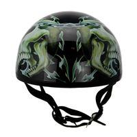 Precio de Cascos de moto de época-scooter de cráneo de la motocicleta de la nueva vendimia de la vendimia casco de moto casco de Moto Harley abierta de la cara medio retro Cascos