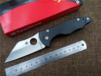 Wholesale Newest Spyderco C85GP2 folding knife S30v blade Carbon Fibber tactical pocket knife utility camping outdoor fruit knife