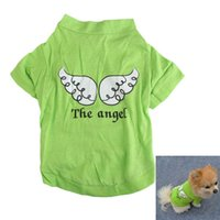 Wholesale 2016 New Arrival Summer Dog Clothes Angel Printed Pet Puppy Small Dog Cat Clothes Vest T Shirt Apparel BS