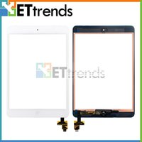Wholesale High Quality Complete Touch Screen Digitizer Assembley with IC Home Button for iPad Mini Mini Touch screen Black White Free DHL AA0026