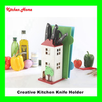 abs cutting tools - Creative House Design Kitchen Knife Stand Plastic ABS Knife Holder Cutting Board Scissor Knives Holder Kitchen Tools