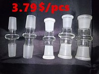 Wholesale 10 styles glass bong adapter joint mm mm female to male converter glass adapter joint for glass bong