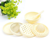 Wholesale 7 In Multifunctional Baby Food Maker Grind Bowl Grinding Disc Filter Spoon Squeezer Triturator Brand New and High Quality