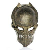 alien mask deluxe - 10pcs EMS Freeshipping Brand New Model Alien VS Predator Warrior Deluxe Movie Mask handmade Sliver and Bronze AVPR Resin mask