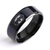 Wholesale 2016 New product l Stainless Steel Batman Rings For Women Ring And Men Rings
